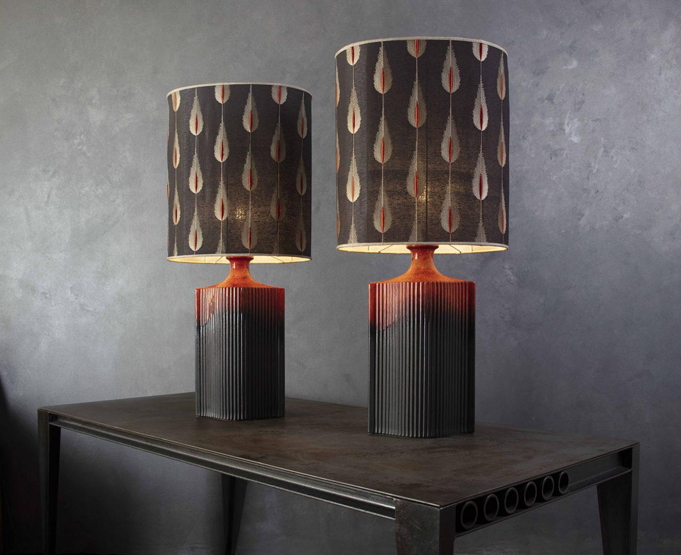 Tischlampen im Federdesign_harry clark interior