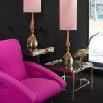 Tischlampen-Seidenlampenschirme-pink