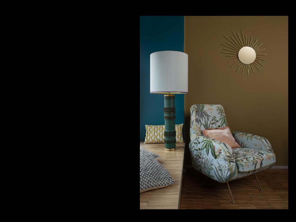 colourscheme <br/> with tablelamp <br/>and <br/>italian armchair