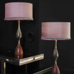 wooden-lamps-silkshapelamps-on-brasstable